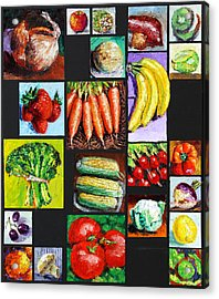 Eat Your Vegies And Fruit Acrylic Print by John Lautermilch