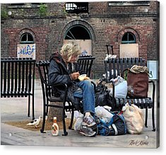 Eating Alone Is A Disappointment .... Acrylic Print by Bob Kramer