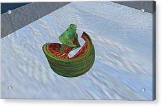 Eating Watermelon Acrylic Print by Thomas Smith