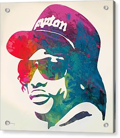 Eazy-e Pop  Stylised Pop Art Poster Acrylic Print