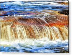 Acrylic Print featuring the photograph Ebb And Flow, Noble Falls by Dave Catley