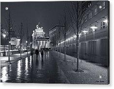 Ebertstrasse And The Brandenburg Gate Acrylic Print by Pierre Logwin