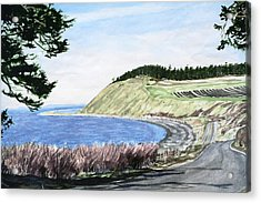Ebey's Landing Acrylic Print by Perry Woodfin