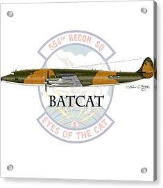 Ec-121r Batcat Acrylic Print by Arthur Eggers