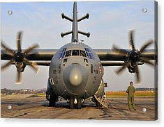 Acrylic Print featuring the photograph Ec-130j Commando Solo IIi by Dan Myers