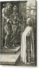 Ecce Homo Acrylic Print by Albrecht Durer