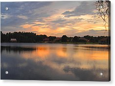 Echo Lake Sunset Acrylic Print by Penfield Hondros