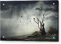 Echoes Of Despair Acrylic Print by Evelina Kremsdorf