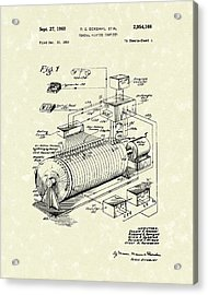 Eckdahl Computer 1960 Patent Art Acrylic Print by Prior Art Design
