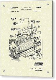 Eckdahl Computer 1960 Patent Art Acrylic Print by Prior Art Design