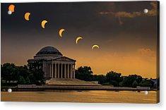 Eclipse Over Jefferson Acrylic Print by Kristen Meister