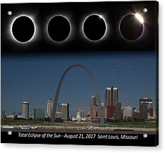 Eclipse - St Louis Skyline Acrylic Print