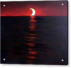 Eclipse Acrylic Print by The Nothing Machine Ink