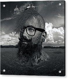 Eco Hipster Black And White Acrylic Print