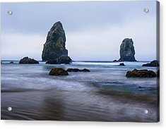 Acrylic Print featuring the photograph Ecola Beach by John Gilbert