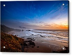 Ecola State Park At Sunset Acrylic Print