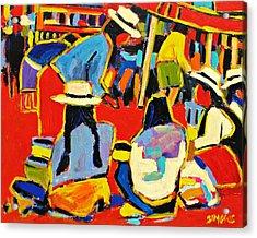 Ecuador Street Market Acrylic Print by Brian Simons