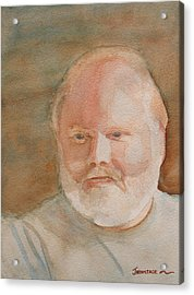 Ed Turns Forty Acrylic Print by Jenny Armitage