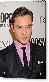 Ed Westwick At Arrivals Acrylic Print
