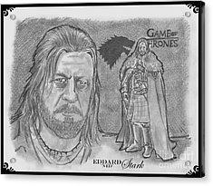 Eddard Stark Acrylic Print