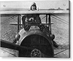 Eddie Rickenbacker - World War One - 1918 Acrylic Print