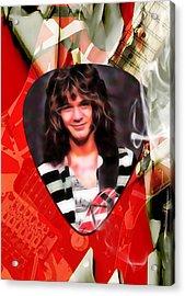 Eddie Van Halen Art Acrylic Print