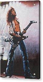 Eddie Van Halen Acrylic Print by Rick Yanke