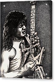 Eddie Vanhalen Acrylic Print by Kathleen Kelly Thompson