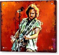 Eddie Vedder Of Pearl Jam Acrylic Print