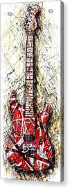Eddie's Guitar Vert 1a Acrylic Print