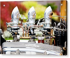 Acrylic Print featuring the photograph Edelbrock Side View by Chris Dutton