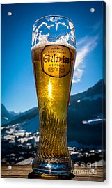 Acrylic Print featuring the photograph Edelweiss Beer In Kirchberg Austria by John Wadleigh