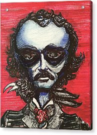 Acrylic Print featuring the painting Edgar Alien Poe by Similar Alien