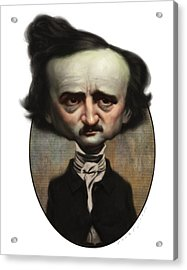 Edgar Allan Poe Acrylic Print by Court Jones