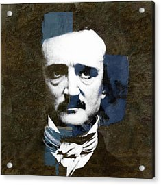 Acrylic Print featuring the mixed media Edgar Allan Poe  by Paul Lovering