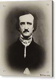 Edgar Allen Poe Acrylic Print by Bill Cannon