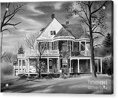 Edgar Home Bw Acrylic Print by Kip DeVore