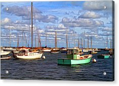 Edgartown Harbor Acrylic Print by Gina Cormier