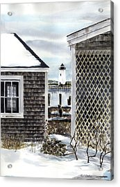 Edgartown Winter Acrylic Print by Paul Gardner