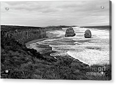 Edge Of A Continent Bw Acrylic Print