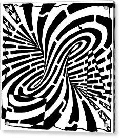 Edge Of A Mobius Strip Maze Acrylic Print by Yonatan Frimer Maze Artist