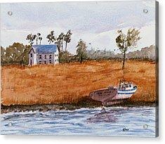 Edge Of The Swamp Acrylic Print by Barry Jones