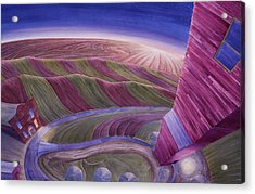Acrylic Print featuring the painting Edge Of Town Iv by Scott Kirby