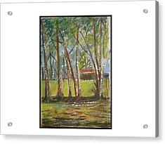 Edge Of Woods Acrylic Print by Angela Puglisi