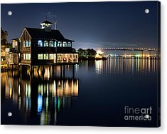 Acrylic Print featuring the photograph Edgewater Grill by Eddie Yerkish
