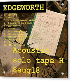 Edgeworth Acoustic Solo Tape H Acrylic Print