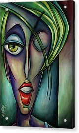 Edgey Acrylic Print by Michael Lang