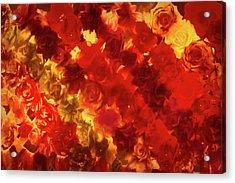 Edgy Flowers Through Glass Acrylic Print