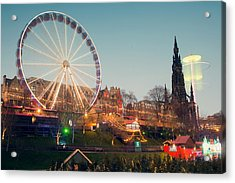 Edinburgh And The Big Wheel Acrylic Print
