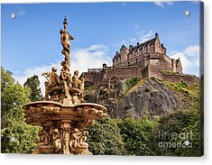 Acrylic Print featuring the photograph Edinburgh Castle by Colin and Linda McKie